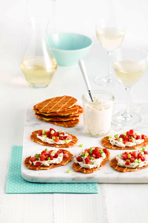 Boterwafels met kaas en pancetta