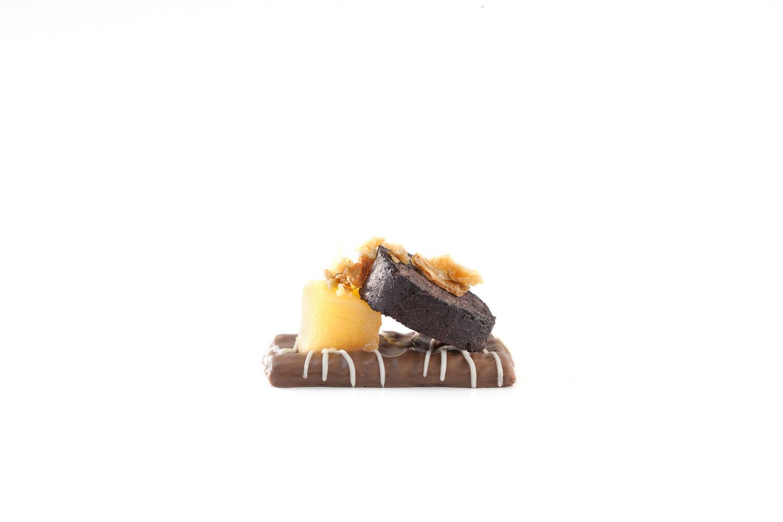 Kaneelkoekje chocolade appel zwarte pens